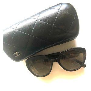 Chanel brown turtle sunglasses